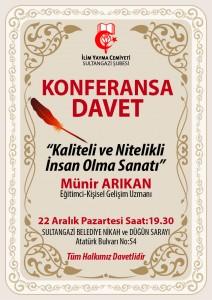 ŞUBEMİZCE SULTANGAZİ'DE KONFERANSLAR BAŞLATILIYOR