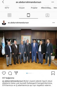 İlim Yayma cemiyeti Sultangazi Şubesi Yönetim Kurulu olarak Belediye Başkanımız Sayın Abdurrahman Dursun'u ziyaretimizden.
